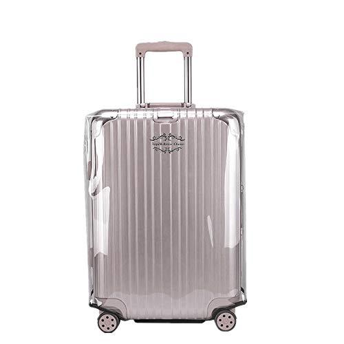 TopZK Transparent Luggage Cover Clear PVC Suitcase Cover Protector Travel Waterproof Baggage Cover