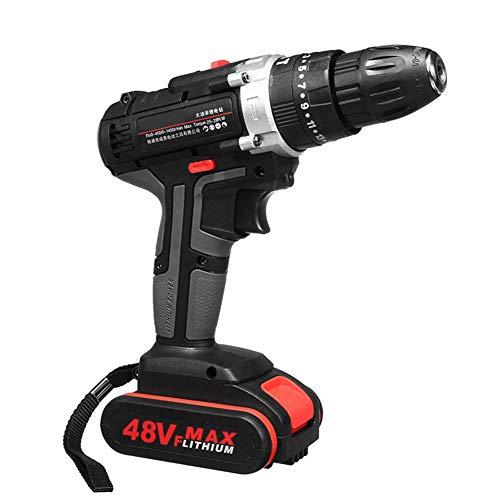 Harwls 48 V elektrische hamer Drill Woodworking Tool heroplaadbaar Woodworking Drills