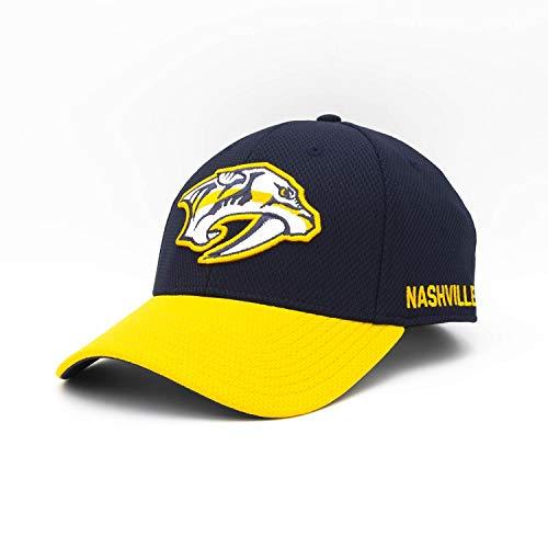 adidas Nashville Predators 2019/20 NHL Coach Flex Fit NHL Cap, L/XL