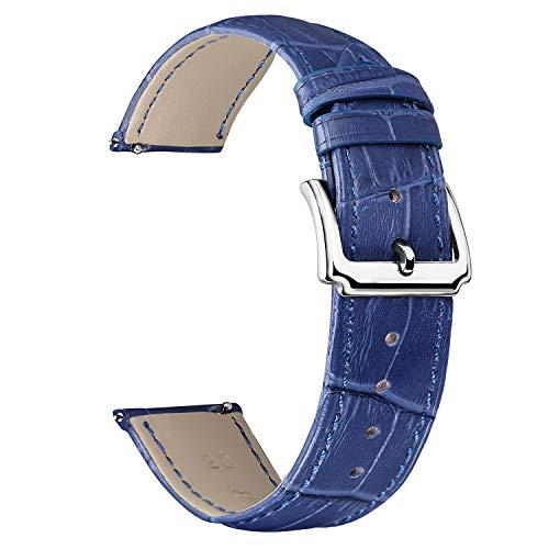 BINLUN Correa Reloj de Piel de Liberación Rápida Correas de Relojes de Cuero de Repuesto para Hombres y Mujeres con 12 Colores (10mm 12mm 14mm 15mm 16mm 17mm 18mm 19mm 20mm 21mm 22mm 23mm)