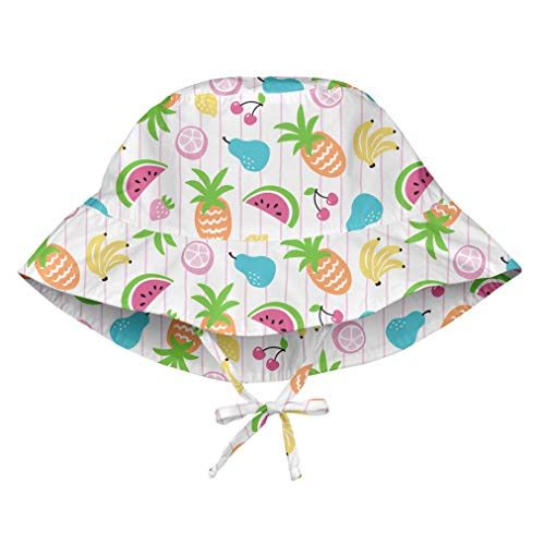 i play. by green sprouts unisex-baby Bucket Sun Protection Hat,White Fruit,2T/4T
