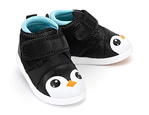 ikiki Squeaky Shoes for Toddlers w/Adjustable Squeaker (7, George P. Penguin)