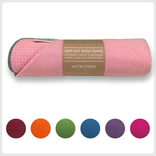 Yogabum Antideslizante Yoga Mat Prima Toalla (Cotton Candy)
