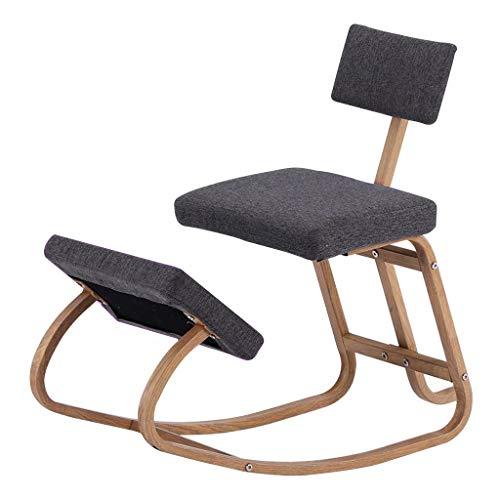 Sedia ergonomica Sgabello Inginocchiato Sgabello Postura Sgabello Ergonomico Ufficio, Portante Circa 150 kg (Color : Gray, Size : 75 * 42 * 78cm)
