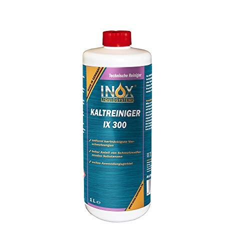 INOX® IX 300 Motor Kaltreiniger, 1L - Motorreiniger Konzentrat, Motorenreiniger gegen Öle, Teer und Fette