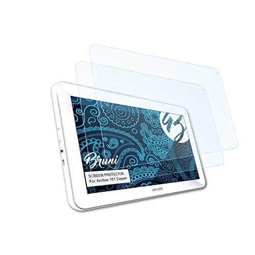 Bruni Schutzfolie kompatibel mit Archos 101 Copper Folie, glasklare Displayschutzfolie (2X)