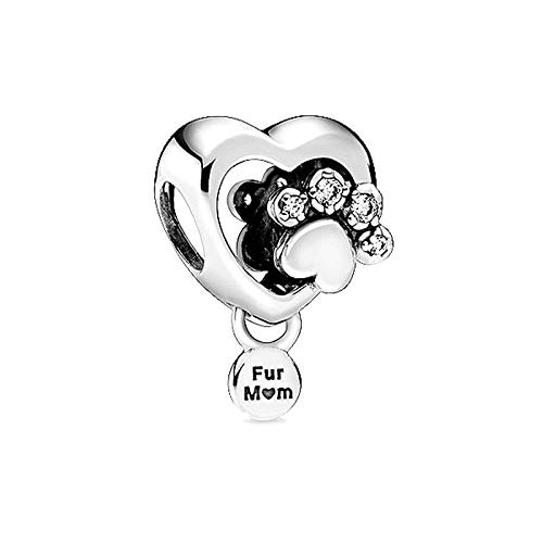 QIAMUCJC Pandora 925 Cuentas de joyería de Plata esterlina Real Ninny Rabbit Charms Fit Original Pulsera Brazalete Que Hace Regalos DIY Mujeres