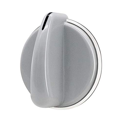 WH01X10462 Dryer Knob for GE Dryer/Washer (Grey)-Replace Part Number WH01X10462, AP4485269, 1550693, PS2370714 By Appliancemate
