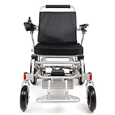"""Porto Mobility Ranger D09S XL, No.1 Best Rated Weatherproof Exclusive Lightweight Folding Electric Wheelchair, Dual """"500W"""" Motors, All Terrain, Dual Battery Portable Electric Wheelchair (Silver, XL)"""