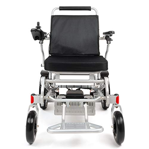 "Porto Mobility Ranger D09S XL, No.1 Best Rated Weatherproof Exclusive Lightweight Folding Electric Wheelchair, Dual ""500W"" Motors, All Terrain, Dual Battery Portable Electric Wheelchair (Silver, XL)"