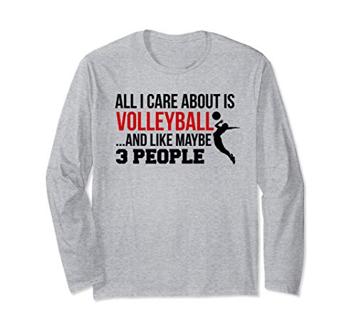 Cute College Volleyball Gift For Teen Girls and Women Long Sleeve T-Shirt