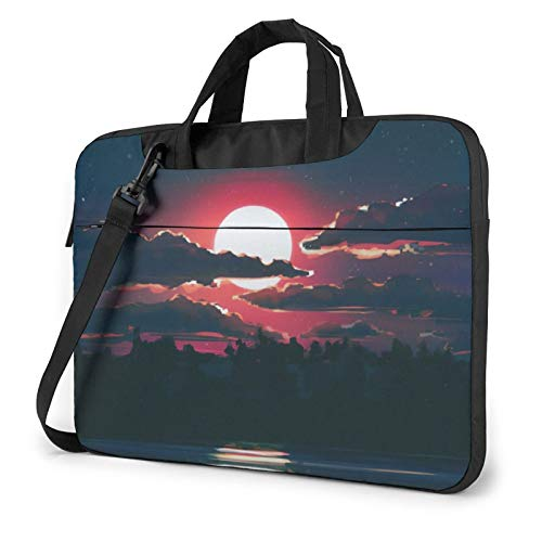 Laptop Sleeve Bag Lunar Night Tablet Briefcase Ultraportable Protective Canvas for 13 inch MacBook Pro/MacBook Air/Notebook Computer