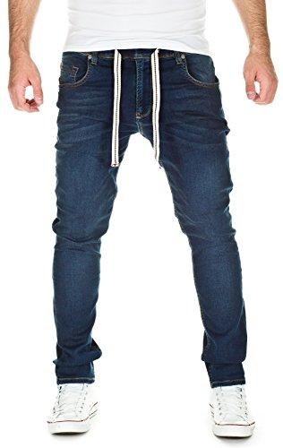 Yazubi Herren Sweathose in Jeansoptik - Jogginghose in Jeans-Look, Dark Blue (10033), W28/L34