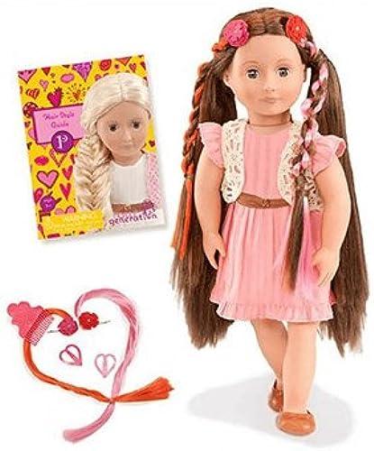 Our Generation 44286 - Parker OG Frisier-Puppe mit Rosa Kleid
