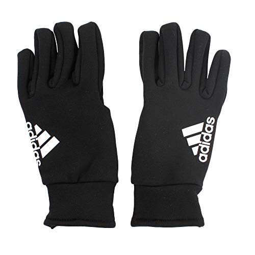 adidas Fieldplayer CP Soccer Gloves, Black/White, 5