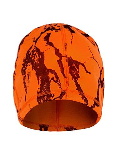 Natural Gear Blaze - Gorro de Lana con diseño de Camuflaje, Color Naranja