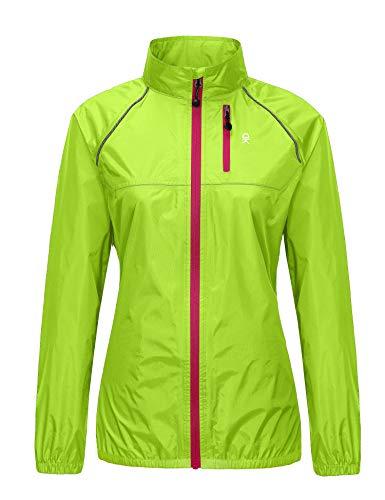 Little Donkey Andy Women's Lightweight Waterproof Cycling Running Rain Jacket, Packable Windbreaker Fall Jacket Yellow Size XS
