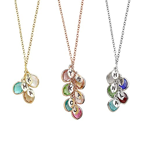 Gift for Her Personalized Birthstone Necklace