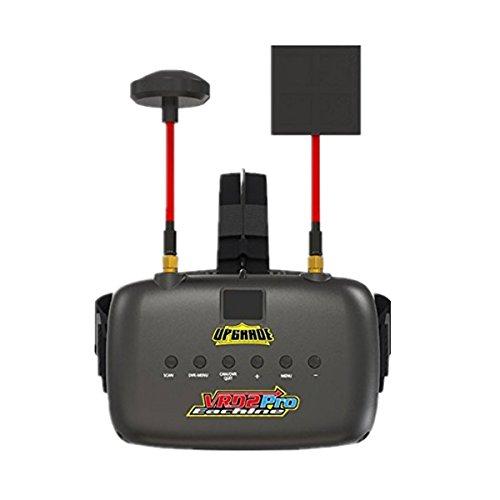 Crazepony-Reino Unido Eachin FPV Gafas VR D2 Pro Upgrade 5.8G 40CH 5 pulgadas 2S 7.4-8.4V con lentes DVR ajustable