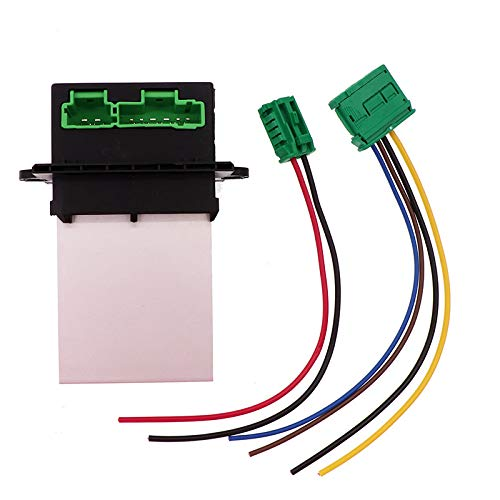CT-CARID Calentador Motor Resistencia del Soplador + Conector, Aire Acondicionado Ventilador Resistencia de Velocidad Reemplazo 6441.L2 6441L2