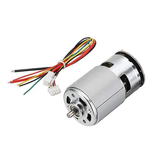 Codificador magnético DC Motor Robot Motor de conducción (Color : 12V)