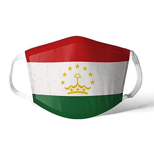 M&schutz Maske Stoffmaske Klein Asien Flagge Tadschikistan Wiederverwendbar Waschbar Weiches Baumwollgefühl Polyester Fabrik