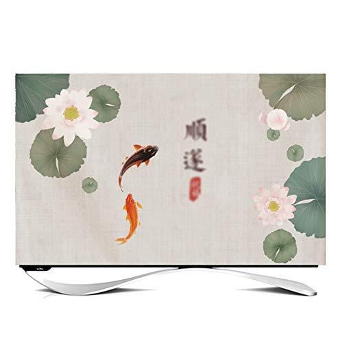 catch-L Funda Compatible con Monitor Cubiertas Protectoras Protector TV Interior Universal Funda para Televisor de 24' - 65' LCD, LED, ó Plasma -GAOGUIMEI Cubierta Antipolvo(Size:55inch,Color:Bien)