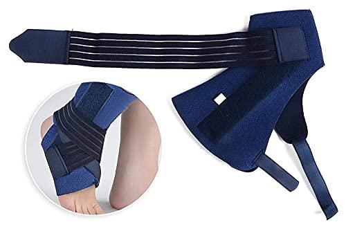 Soporte de tobillo de braces de tobillo con placa de aluminio, envoltura de manga de tobillo de neopreno transpirable para esguinces, cepas, soporte de reparto post-OP y protección contra lesiones Jsm