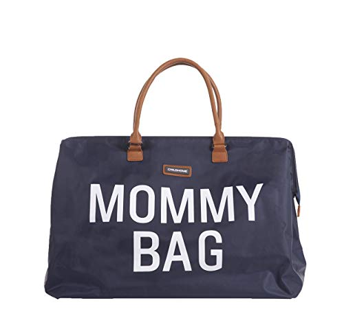 MOMMY BAG Big Navy - Functional Large Baby Diaper Travel Bag for Baby Care.