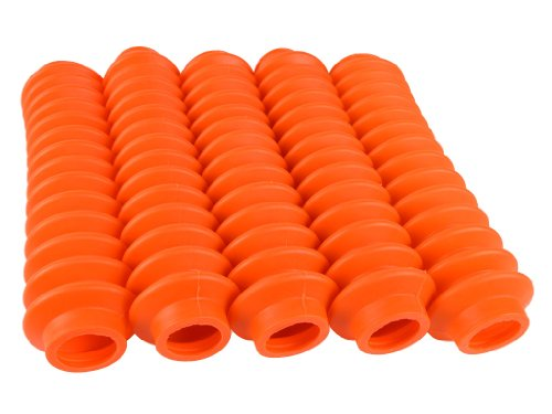 5 Shock Boots Bright Orange Fits Most Shocks for Jeep Universal Off Road Vehicles