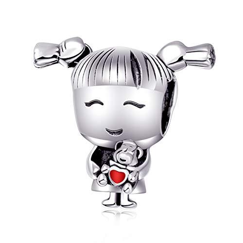 Abalorio de niño de plata de ley 925 para pulsera Pandora