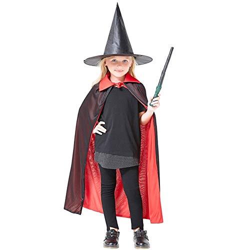 LXJ De Halloween, apoyos del Partido de Halloween, Decoraciones, Trajes de Mago Sombrero mágico de Halloween Mostrar Capa Infantil Asistente Atrezzo Magic Hat