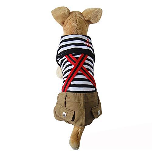 Cute Dog Bib Pants, Schöne Haustier-Liebhaber-Kleidung Anzug, Casual-Jacke für kleine Hunde und Katzen Weihnachten Party-Foto-oder gehen Sie Wandern,MaleL