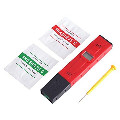 Hozee Medidor de PH de Acuario hidropónico, medidor de PH Digital portátil LCD, para Uso en la Industria cosmética del Monitor de Agua de Pesca de Acuario