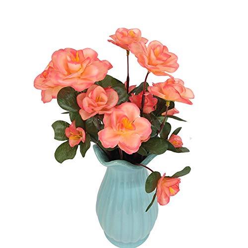 Preisvergleich Produktbild Jancery Künstliche Blumen künstliche Blumen Azaleen-Blumenstrauß für Zuhause,  Garten,  Party,  Hochzeit,  Dekoration (Violett),  2,  2