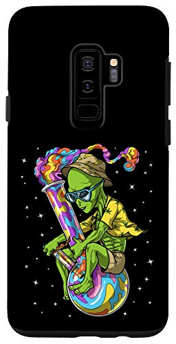 Galaxy S9+ Space Alien Weed Bong Stoner Psychedelic Cannabis Marijuana Case