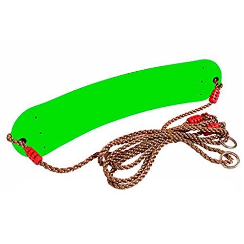 Columpio Jardín para Exteriores Kit de Swing Blando para Adultos y Silla Colgante de niños, fácil de Transportar y fácil de Instalar (Color : Green)