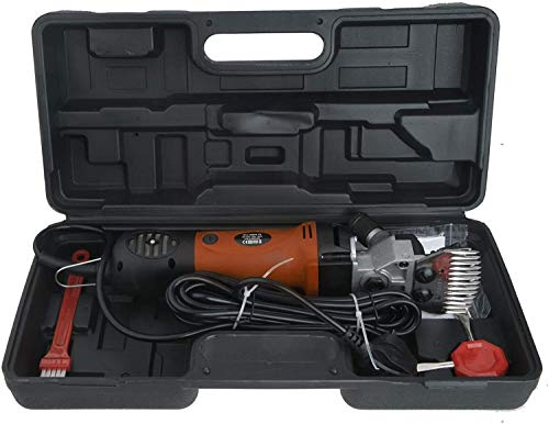 Vinteky 690W - Cortacésped profesional eléctrico para caballos, cortacésped eléctrico de oveja (6 velocidades, ajustable), color naranja