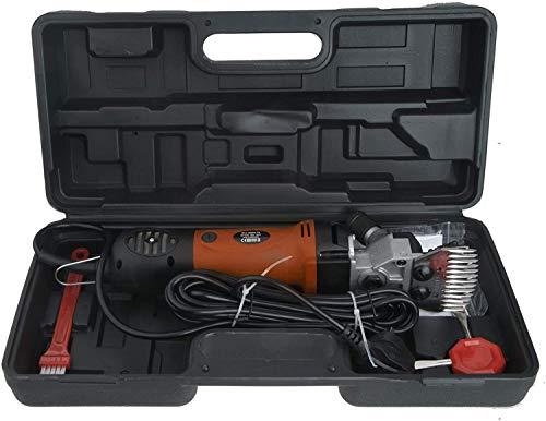 Vinteky 690W Cortapelos eléctrico de oveja + 6 velocidades ajustables (naranja)