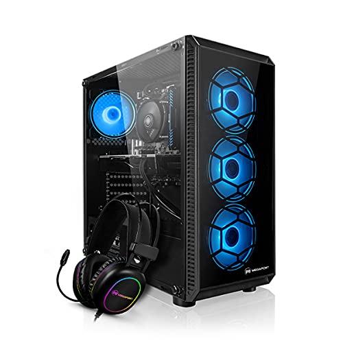 PC Gaming - Megaport Ordenador AMD Ryzen 5 3500X 6x3.60 GHz • GeForce GTX1650 • Windows 10 • 16GB 3000 RAM • 500GB M.2 SSD • Gaming Headset • PC Gamer • Ordenador de sobremesa