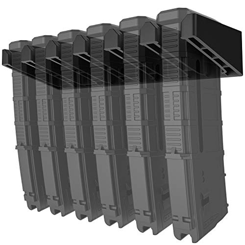 Solid ABS 6X Standard PMAG Wall Mount, Mag Holder, Home Magazine Storage Rack, 1 Pack