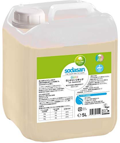 SODASAN Color Flüssigwaschmittel Limette 5 Liter – ökologisch und keine Enzyme und Phosphate, mit natürlichem Duft aus reinen ätherischen Ölen