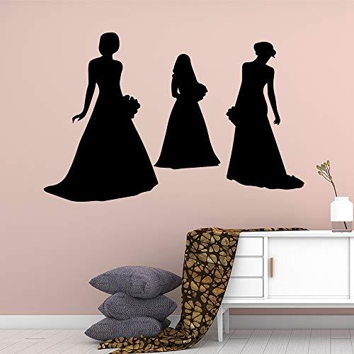 Diy mode boutique wandkunst aufkleber moderne wandtattoos für mädchen zimmer vinyls aufkleber schlafzimmer kunstwand decal42 * 64 cm