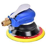 Goplus Air Palm Random Orbital Sander Dual Action Pneumatic Polisher Speed Adjustable Grinding Sanding w/Pad (6 inch)