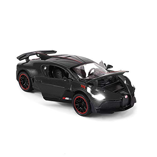 Toys car Bugatti Divo Alloy Model Car,1:32 Diecast Car Gifts for 3 to 7 Years Old (Grey)