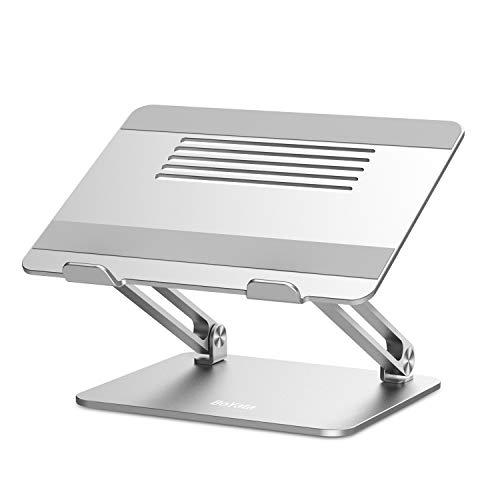 BoYata Supporto PC Portatile, Ergonomico in Alluminio Supporto per Laptop Multi-Angolo Regolabile Compatibile per Laptop (10-17 Pollici) Inclusi MacBook PRO Air, Surface, Samsung, HP
