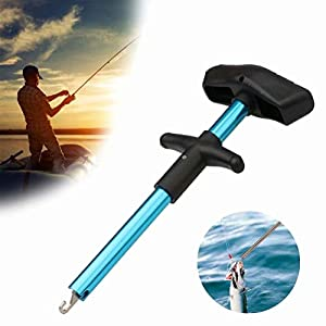 BYMYWAY Easy Fish Hook Remover, 2019 New Squeeze-Out Fish Hook Separator Tools, Portable Easy Reach Aluminum Fishing Hooks Extractor, Fast Decoupling, No Injury