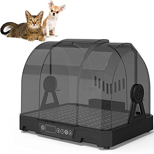 Caja De Secado Automático para Mascotas Secador De Pelo Silencioso De 30 Decibelios Secador De Pelo para Mascotas,Superportante, Carcasa Totalmente Transparente,Apto para Mascotas De Menos De 5 Kg.