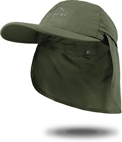 normani Sommer Cap 'Savannah' mit einrollbarem Nackenschutz Farbe Oliv Größe L