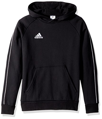 Adidas Core 18 - Sudadera con capucha unisex, Negro, L